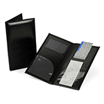 Premium Check Presenter & Bill Folio with Suede Inside, Black - Item 8CP2-GN Wholesale Tabletop Restaurant Marketing